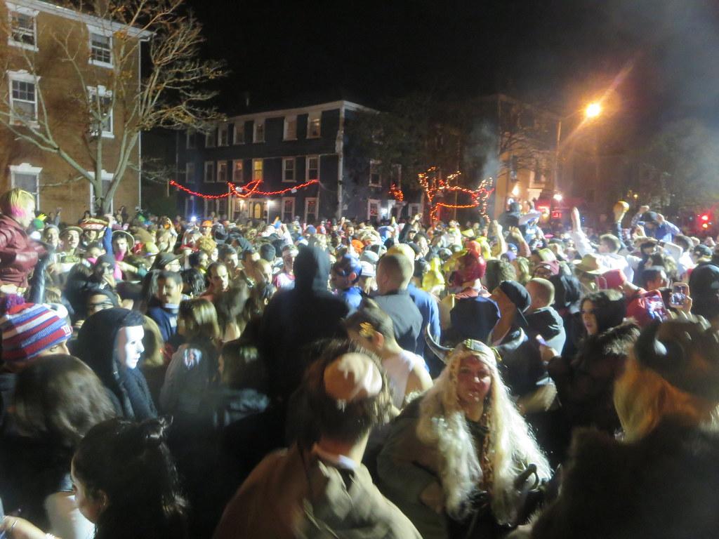 Crowd dancing at Halloween Haunted Happenings DJ dance str…   Flickr