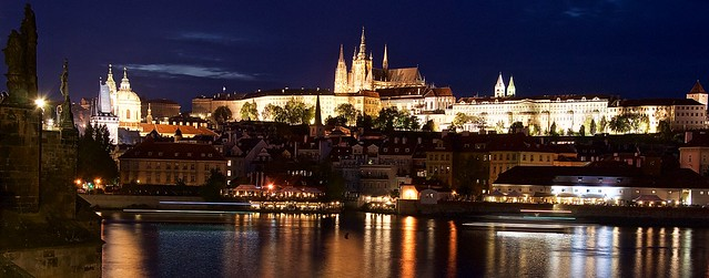Prague looks absolutely stunning at night