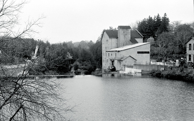 Elora Mill on a Grey Day_
