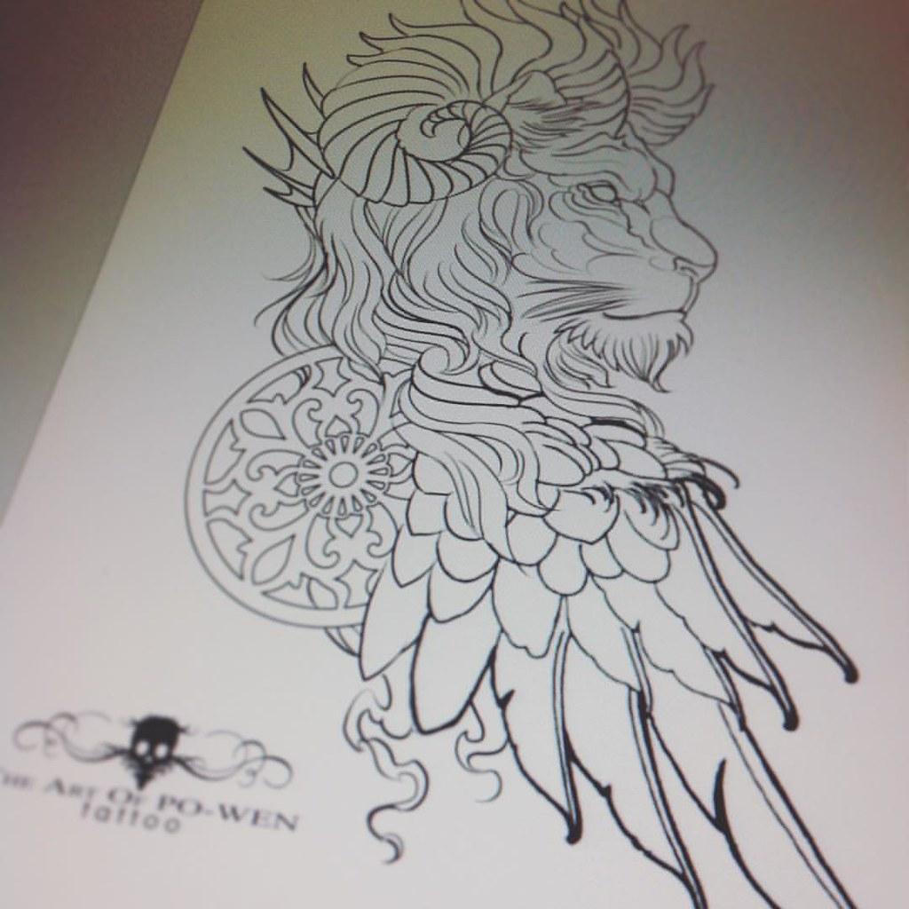 Lion King Tattoo Designs The Art Of Po Wen Tattoo Https Flickr