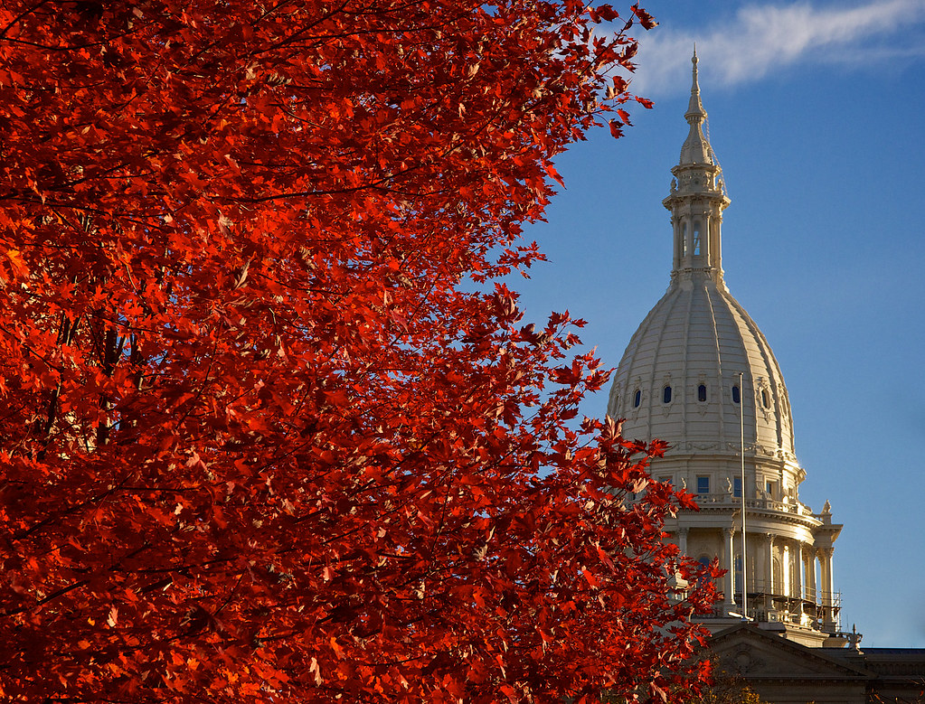 The Michigan State Capitol. Photo courtesy of Flickr.