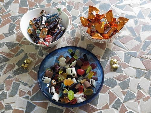 Süßigkeiten auf der Feier des 50. Geburtstags eines Freundes