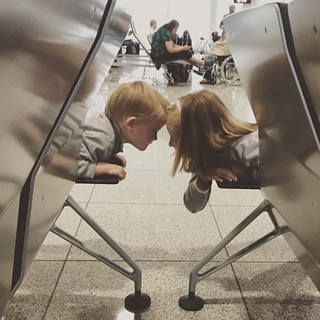 Maybe if we put our heads together we can figure out how to have fun in an airport! | by erikrasmussen