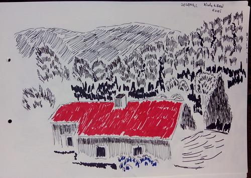 53th sketchcrawl. 2016-X-22. Eugi, Nafarroa