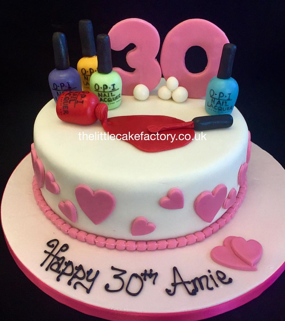 Nail Art Birthday Cake View Our Website Thelittlecakefa Flickr