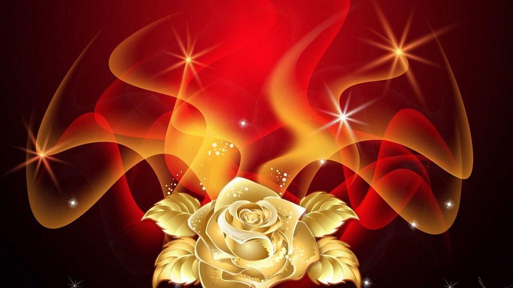 Golden Rose Flame