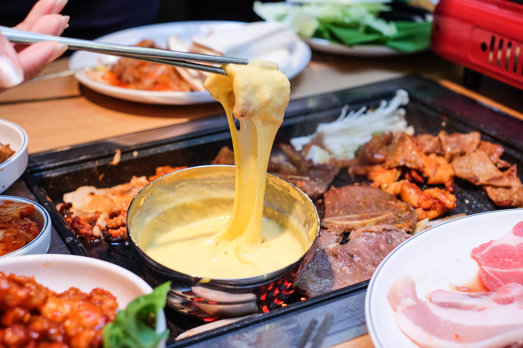 CHEESY Korean Food: Korean BBQ With Cheese