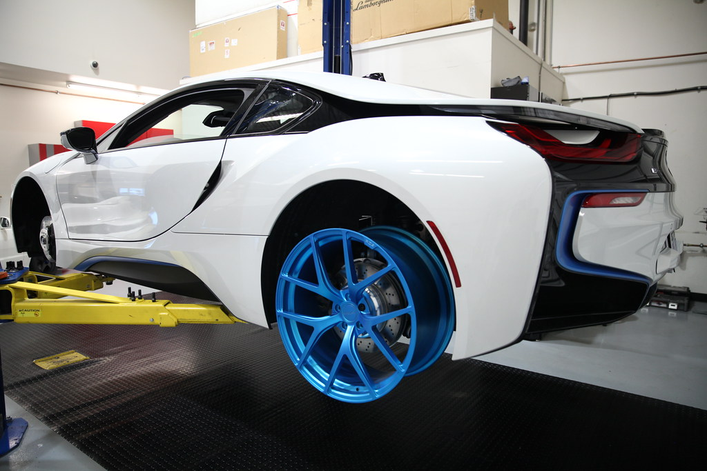 Pur Wheels 4our Matte Electric Blue Bmw I8 Monique Song Flickr