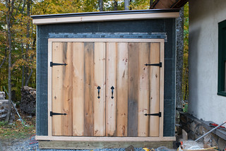 Insulated Cistern Shed w/ Doors Installed | by goingslowly