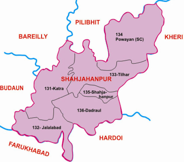 Shahjahanpur district Uttar Pradesh Election 2017