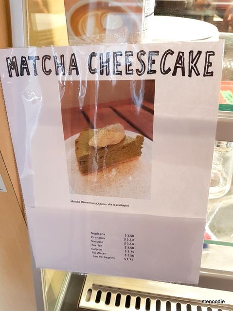 Touhenboku Cafe matcha cheesecake