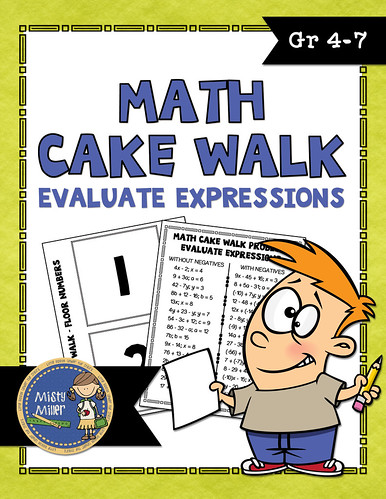 Cake Walk Math Style | Math Game | Movement in Math | Math Activity | Evaluate Expressions