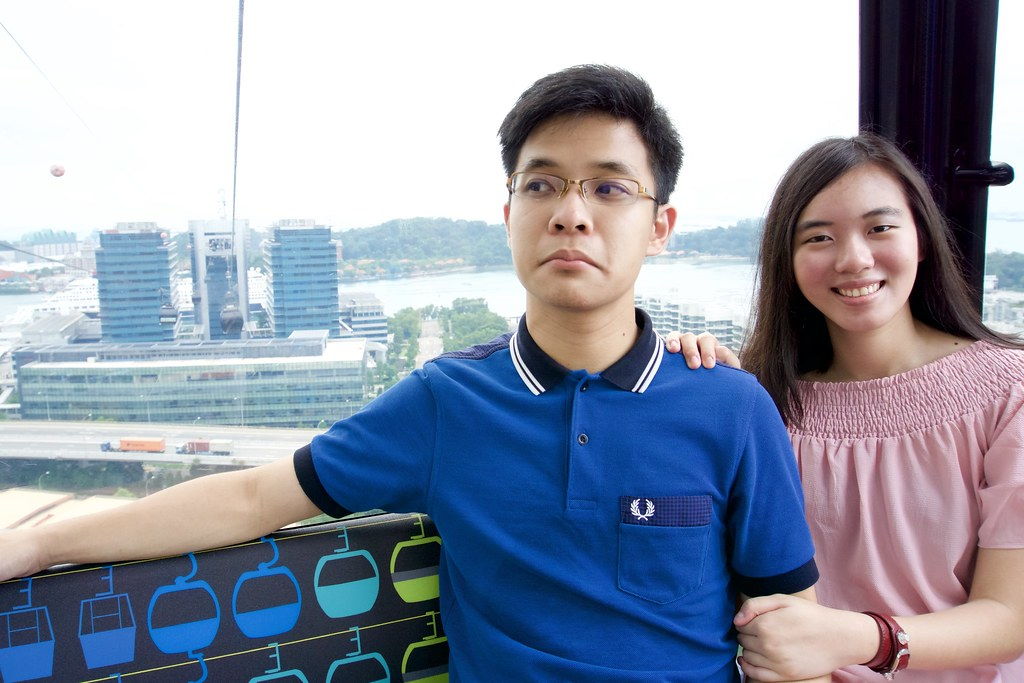 Joshua & Tiffany on the cable car.