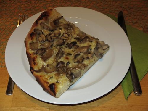 Pilz-Focaccia (Viertel)