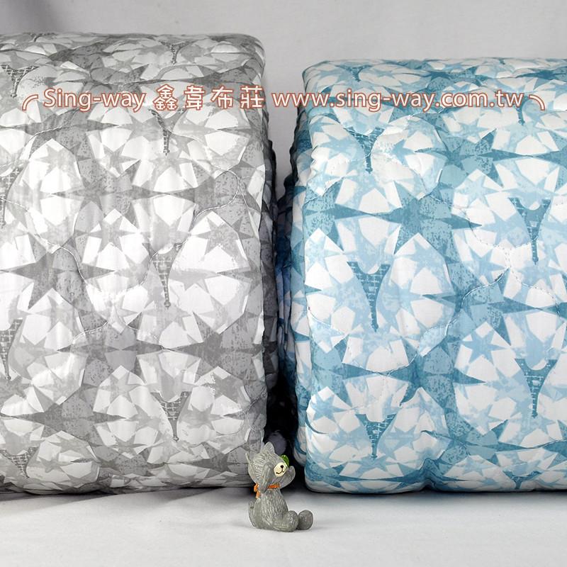 【限宅配】 拓印鐵塔 精梳棉鋪棉床品床單布料  B990079