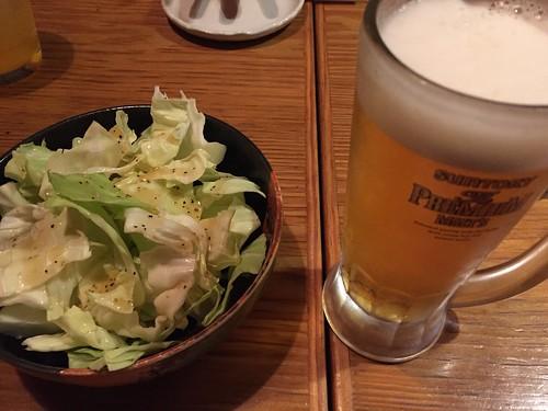 鶏焼ダイニング TAMARIBA ビールとお通し