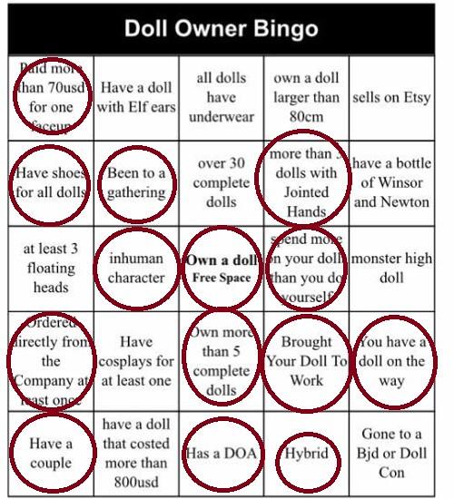 Doll Owner Bingo Done P Umbra Gulaba Instagram Umbra Gulaba