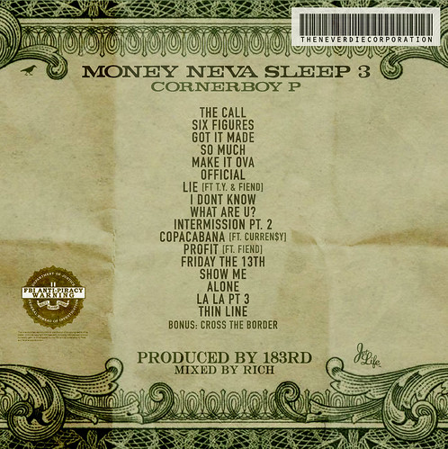 Money Neva Sleep 3 (Front) | by fortyfps