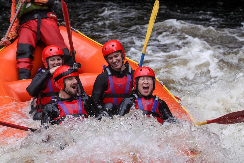 Whitewater rafting in Wales