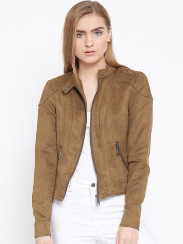 Jacket styles for women - Mock collar jacket