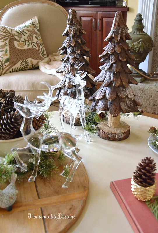 Woodland Christmas Vignette - Crystal Deer - Breadboard - Housepitality Designs