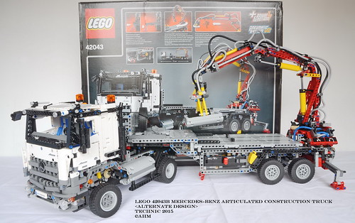 lego technic 42043b mercedes benz articulated construction flickr. Black Bedroom Furniture Sets. Home Design Ideas