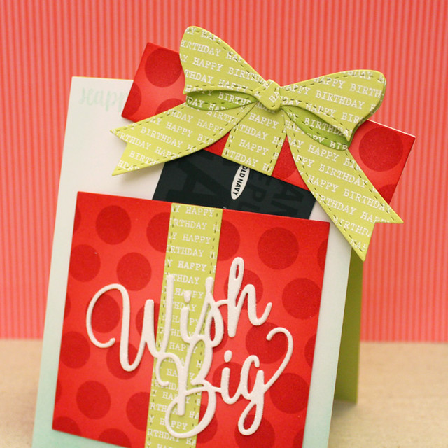 Wish Big Gift Box Card - Lifted Lid