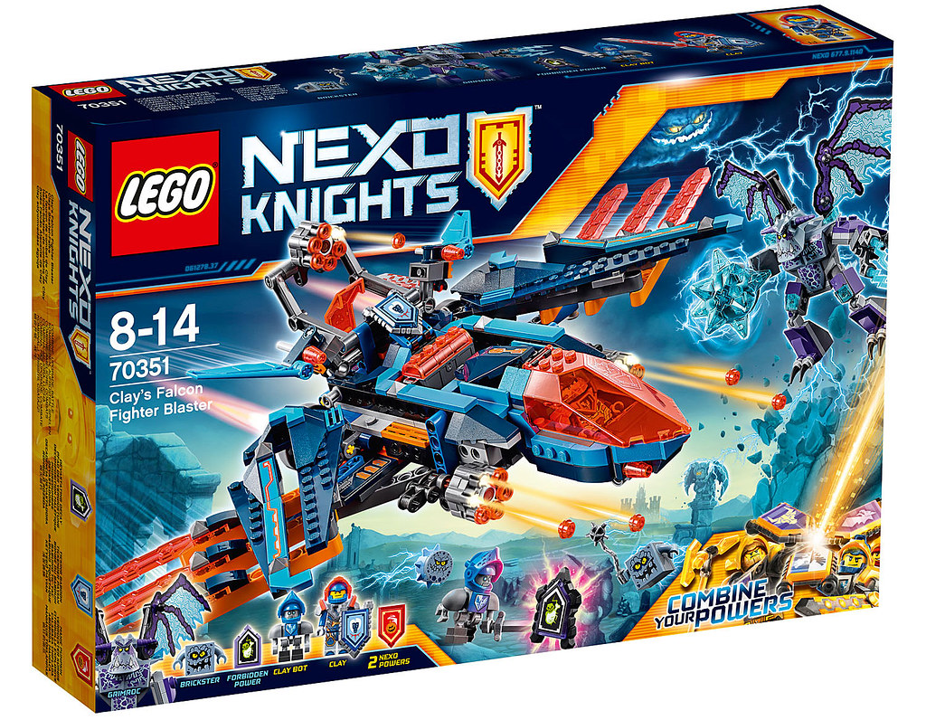 LEGO Nexo Knights 70351 - Clay's Falcon Fighter Blaster
