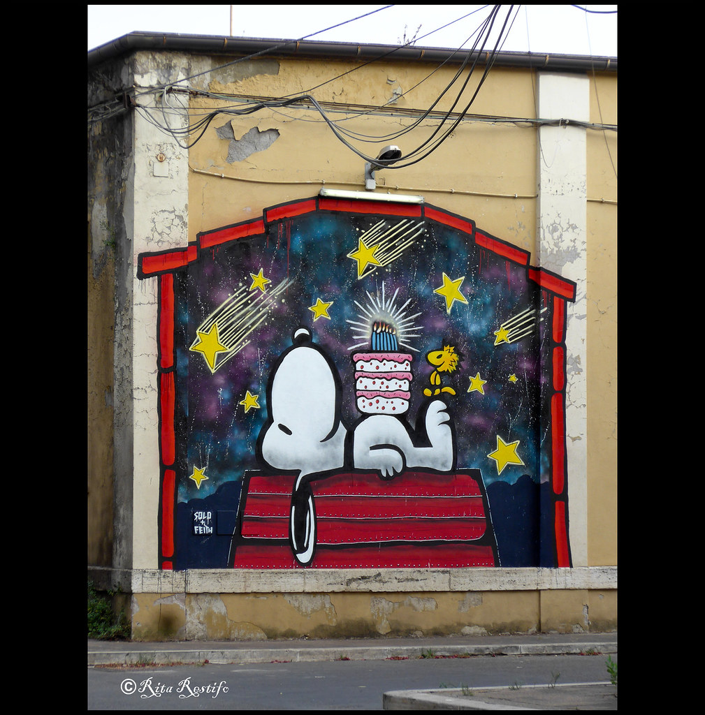 By solo and roma san lorenzo street art auguri snoopy by solo and