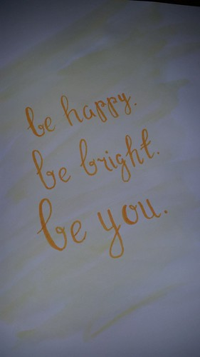 Watercolour Quote DIY Be Happy