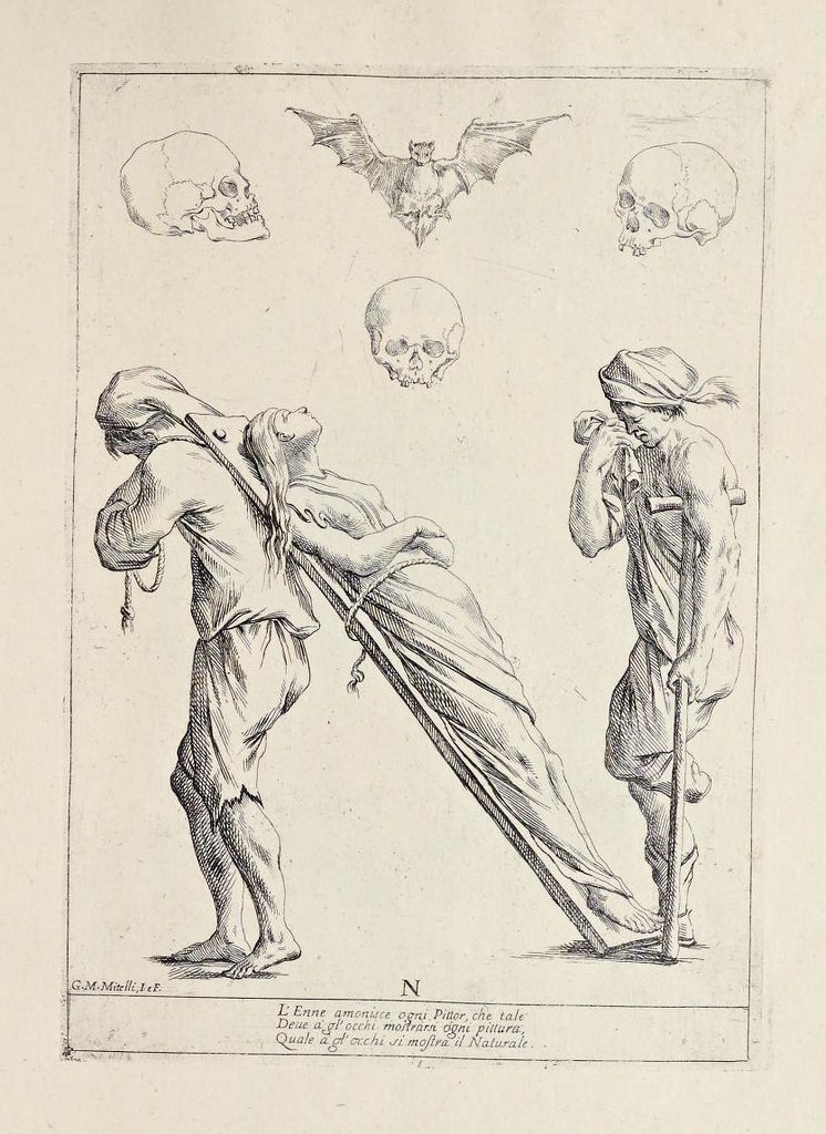 Alfabeto in sogno (1683) by Giuseppe Maria Mitelli. The title translating as Dream Alphabet