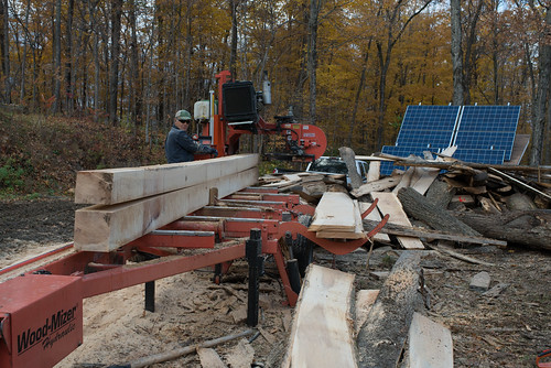 Dave Milling Wood with WoodMizer Portable Sawmill | by goingslowly