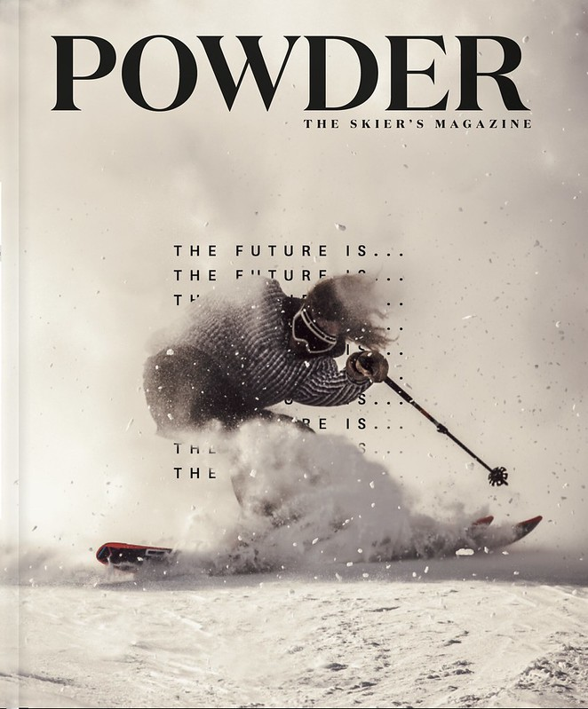 "Powder Magazine october issue 2016 Cover ""The future is"""