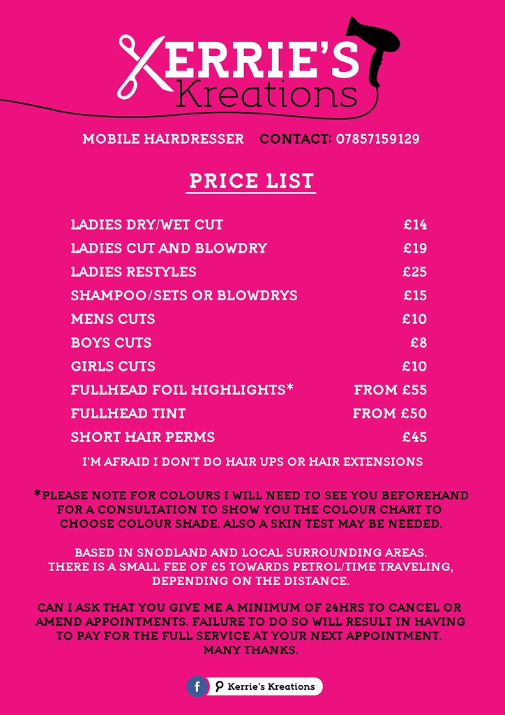kerrie s kreations price list flyers stan brooks designs flickr