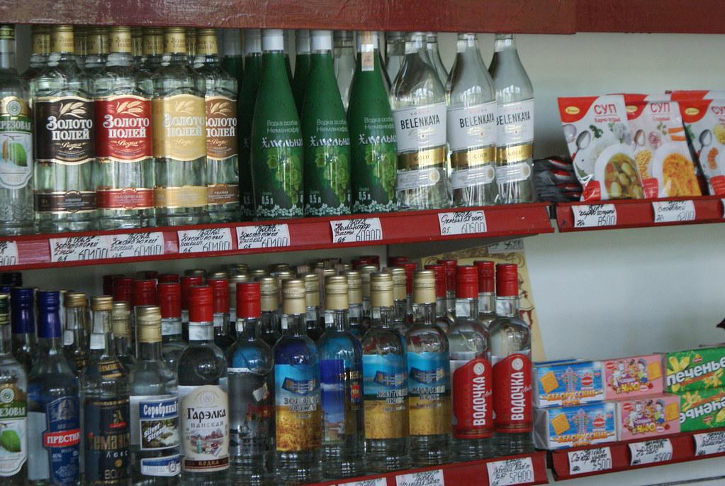L'alcool n°1 est la wodka, suivi par la bière, des brandys et des alcools grecs.