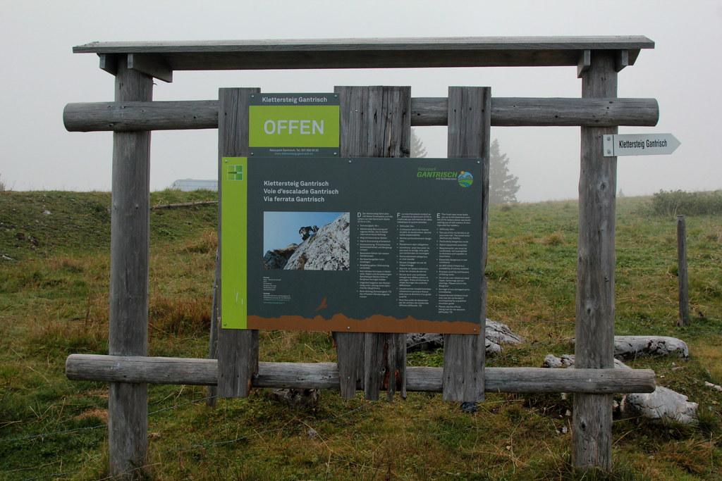 Klettersteig Gantrisch : Hinweisschild hinweistafel zum klettersteig gantrisch imu flickr