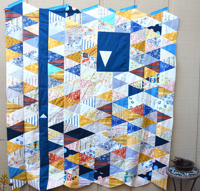 Skinny Triangles quilt top