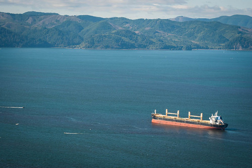 Freighter in the Columbia River
