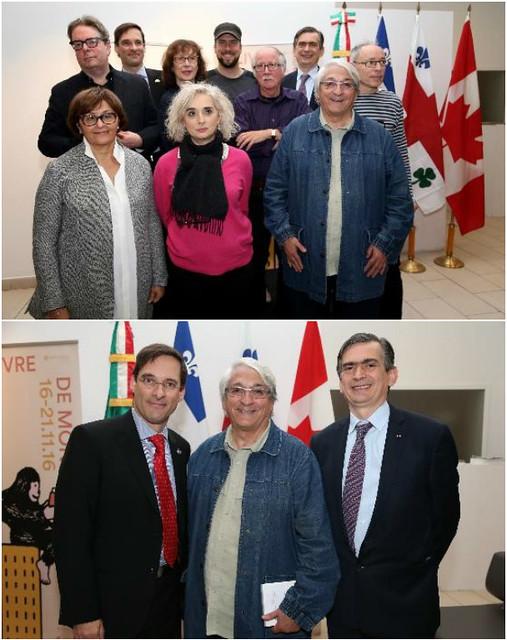 Conferencia de prensa de la feria del libro de Montreal 2016