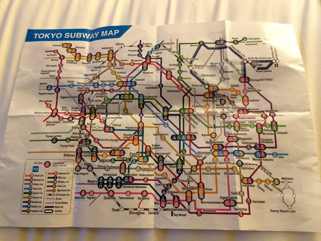 Tokyo Subway Map English Ivan W Lam Flickr
