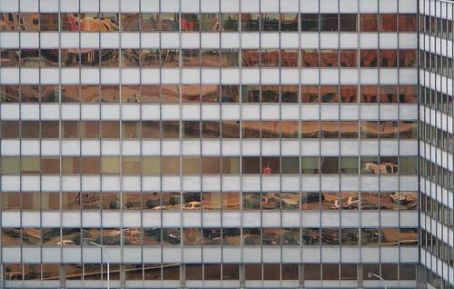 Gridded reflection in Antwerp, Belgium