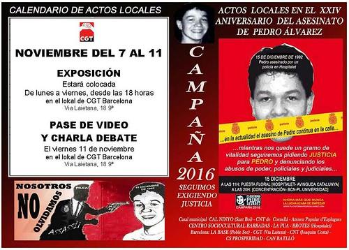 Acte sobre cas Pedro Àlvarez a Barcelona