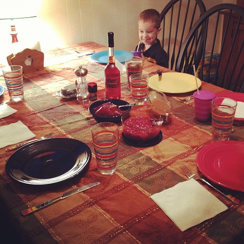 Always the first one at the thanksgiving table ❤