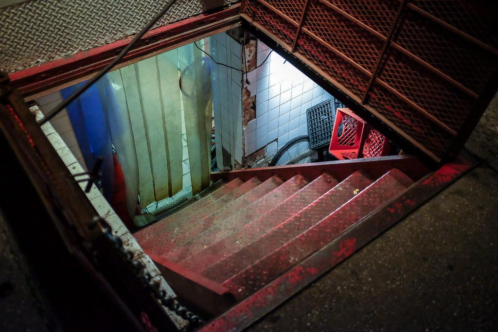 ... East New York City Street Scenes - Cellar Door and Stairway Down Under a Restaurant East & New York City Street Scenes - Cellar Door and Stairway Dow\u2026 | Flickr