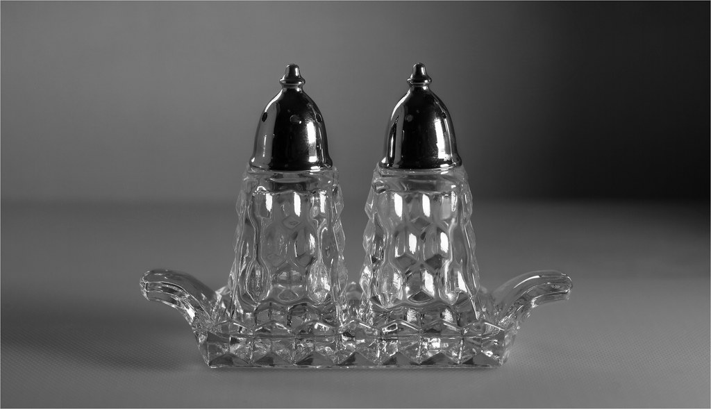 Antique Crystal Salt Pepper Shakers This Is An 8 Exposur Flickr