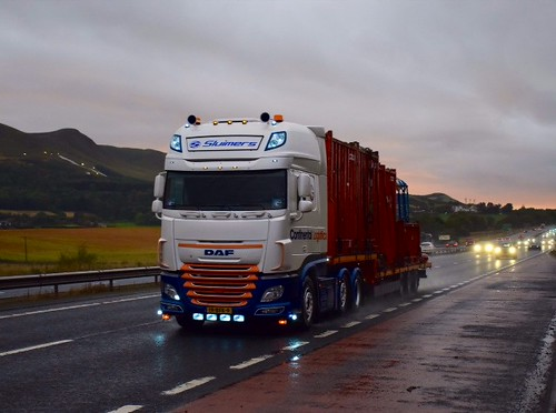 sluimers continental logistics daf euro 6 southbound on th