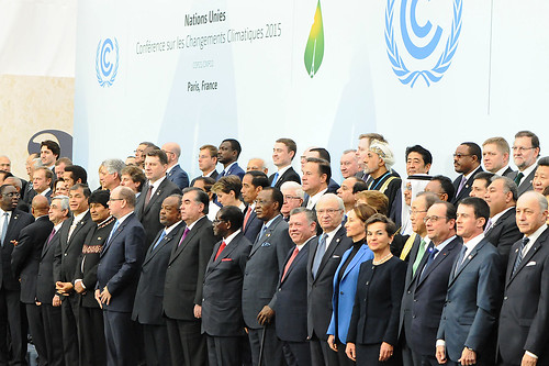 Family photo during Leader Event of COP 21/CMP 11 - Paris Climate Change Conference | by UNclimatechange