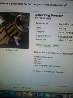 dalek dog sweater
