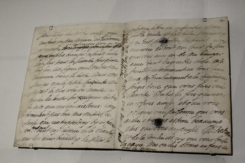 Marquise de Sévigné, lettre autographe à Gilles Ménage, 12 septembre 1656 - Exposition Blaise Pascal à la Bibliothèque nationale de France