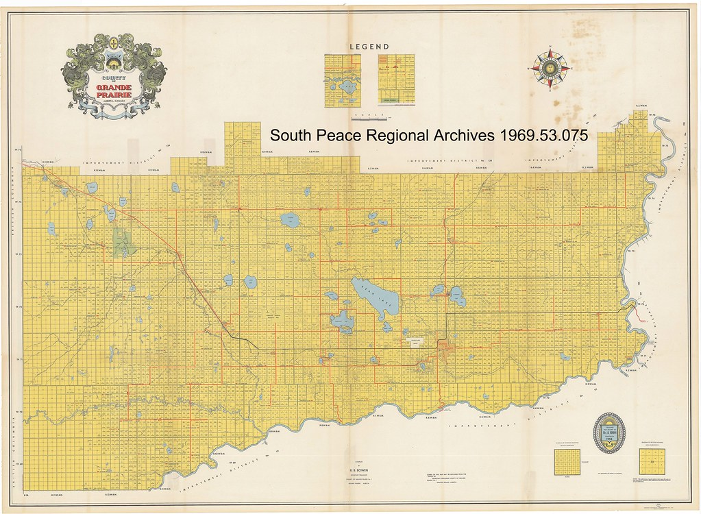 1955 County of Grande Prairie Map With Land Owner Names Flickr